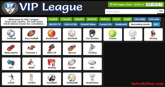 Free Sports Streaming Sites VIP League