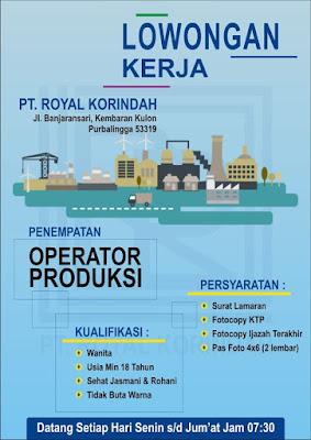 Lowongan Kerja PT. Royal Korindah Purbalingga Januari 2020