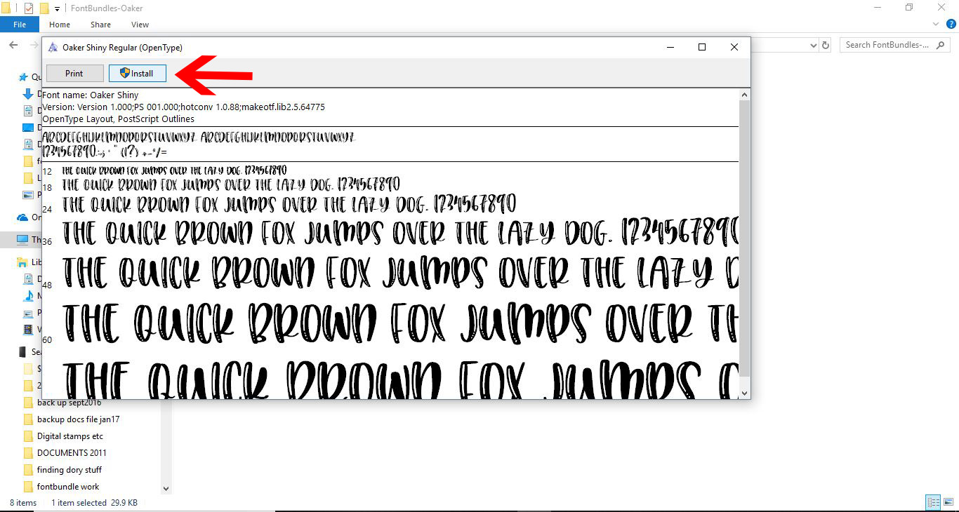 How to Install Fonts on a Windows PC or Mac   Design Bundles