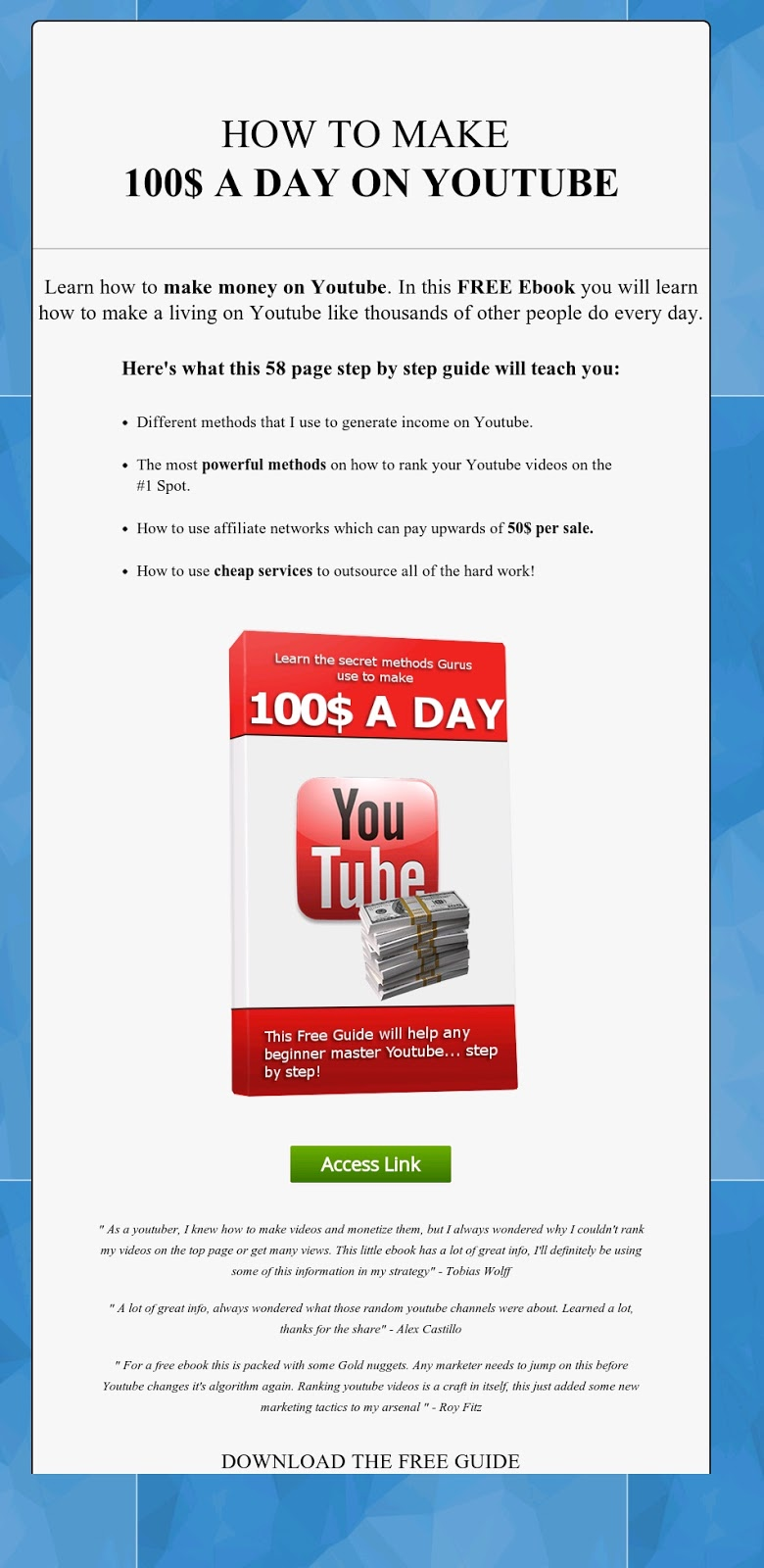 How to Make $100 A Day With Youtube - Interesting Things on Online