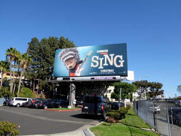 Sing film billboard