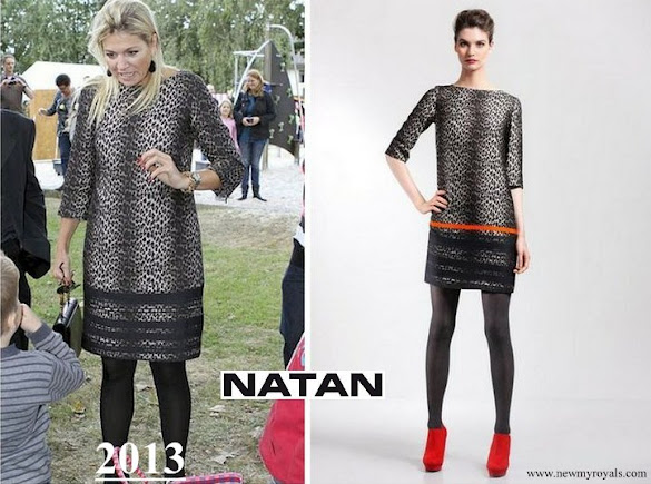 Queen Maxima wore Natan animal print dress
