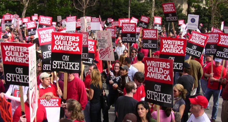 2007 strike of writers guild of Hollywood on edge as another writers' strike looms large  in the winter of 2007, the writers went on strike for 100 days because they had  but the guild does.