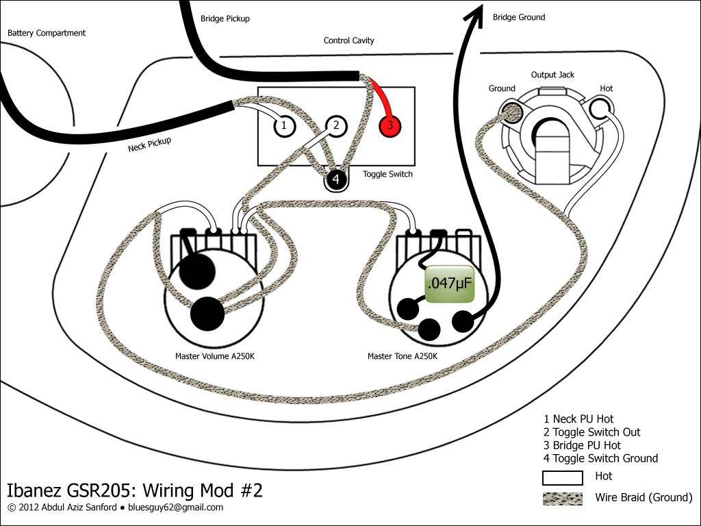 gibson guitar mods wiring diagram database ca gear blog ibanez gsr205 wiring mod 2