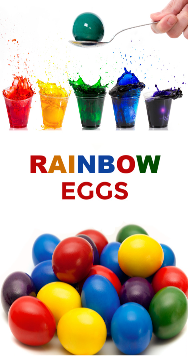 Dye SUPER vibrant rainbow Easter eggs using food coloring!  This recipe tutorial shows you how to get the most stunning eggs, step-by-step. #rainboweastereggs #rainboweggs #howtodyeeastereggs #foodcoloringeggdye #foodcoloringeastereggs #foodcoloringdyedeggs #howtocoloreastereggs #foodcoloring #growingajeweledrose