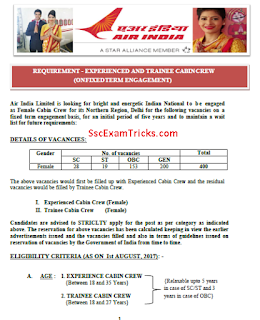 Air India Cabin Crew Recruitment