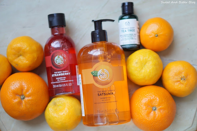The Body Shop Jumbo Regular Travel Size Satsuma, Strawberry, Tea Tree