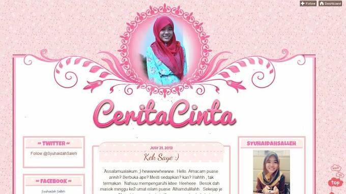 Tempahan Design Blog: Blog CeritaCinta