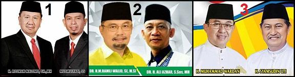 Dua pasang calon bupati dan wakil bupati (Pilbup) kabupaten Indragiri Hilir (Inhil) 2018