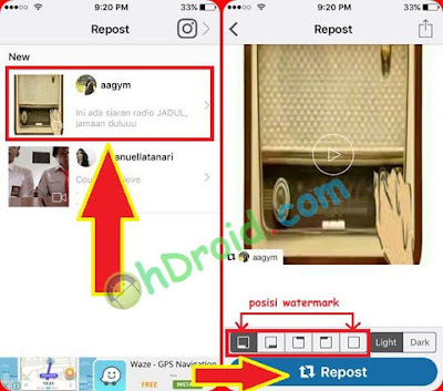 Cara Repost Video dan Foto di Instagram iPhone / Android