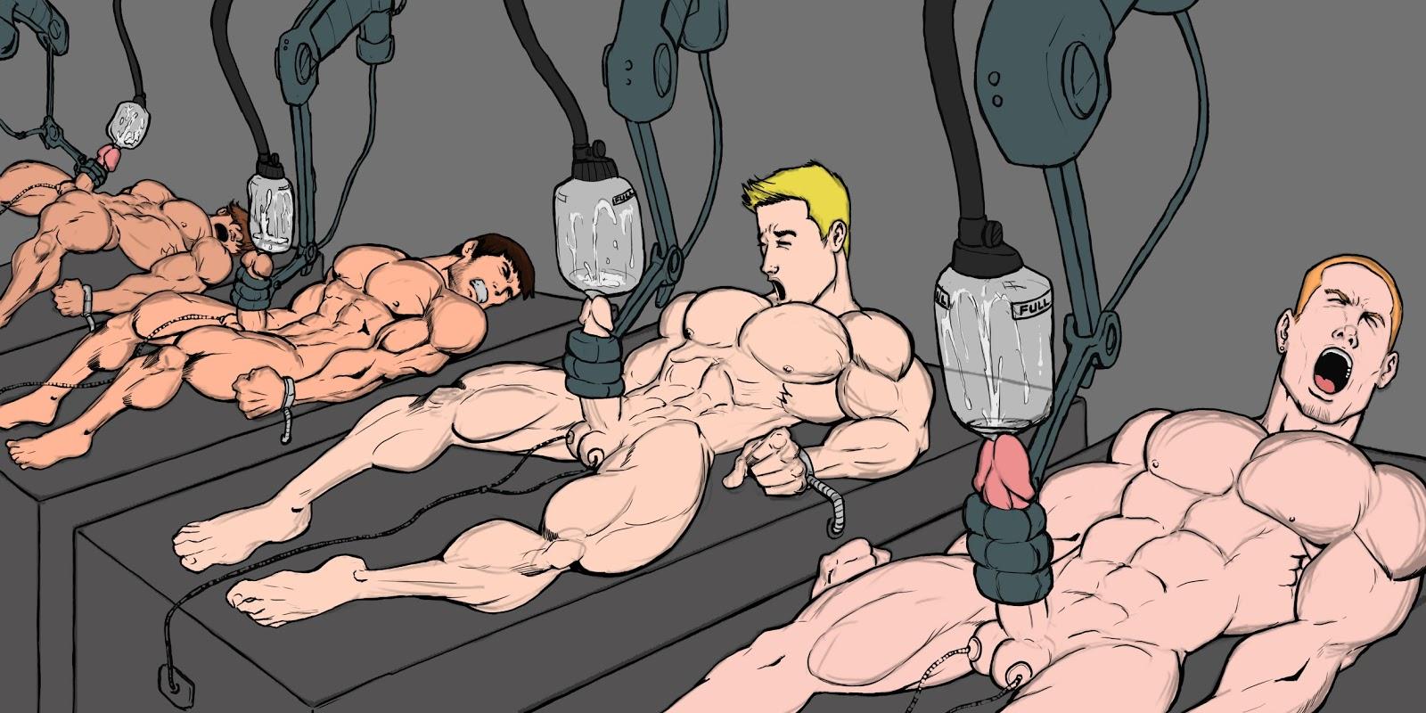 cartoon tit milking machine