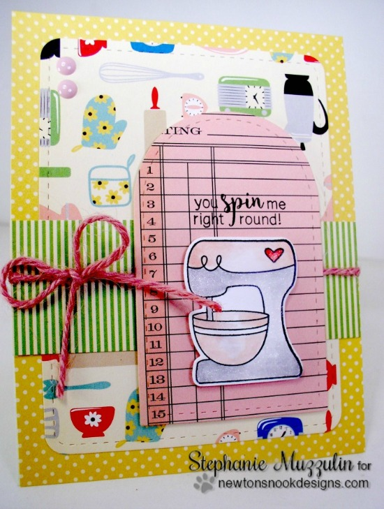 Baking Mixer Card by Stephanie Muzzulin | Made from Scratch Stamp Set by Newton's Nook Designs #newtonsnook