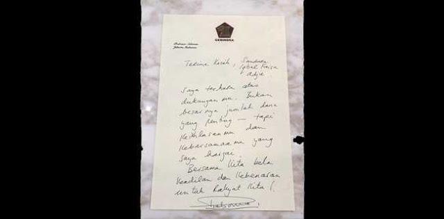 Disumbang Masyarakat, Prabowo Ucapkan Terimakasih