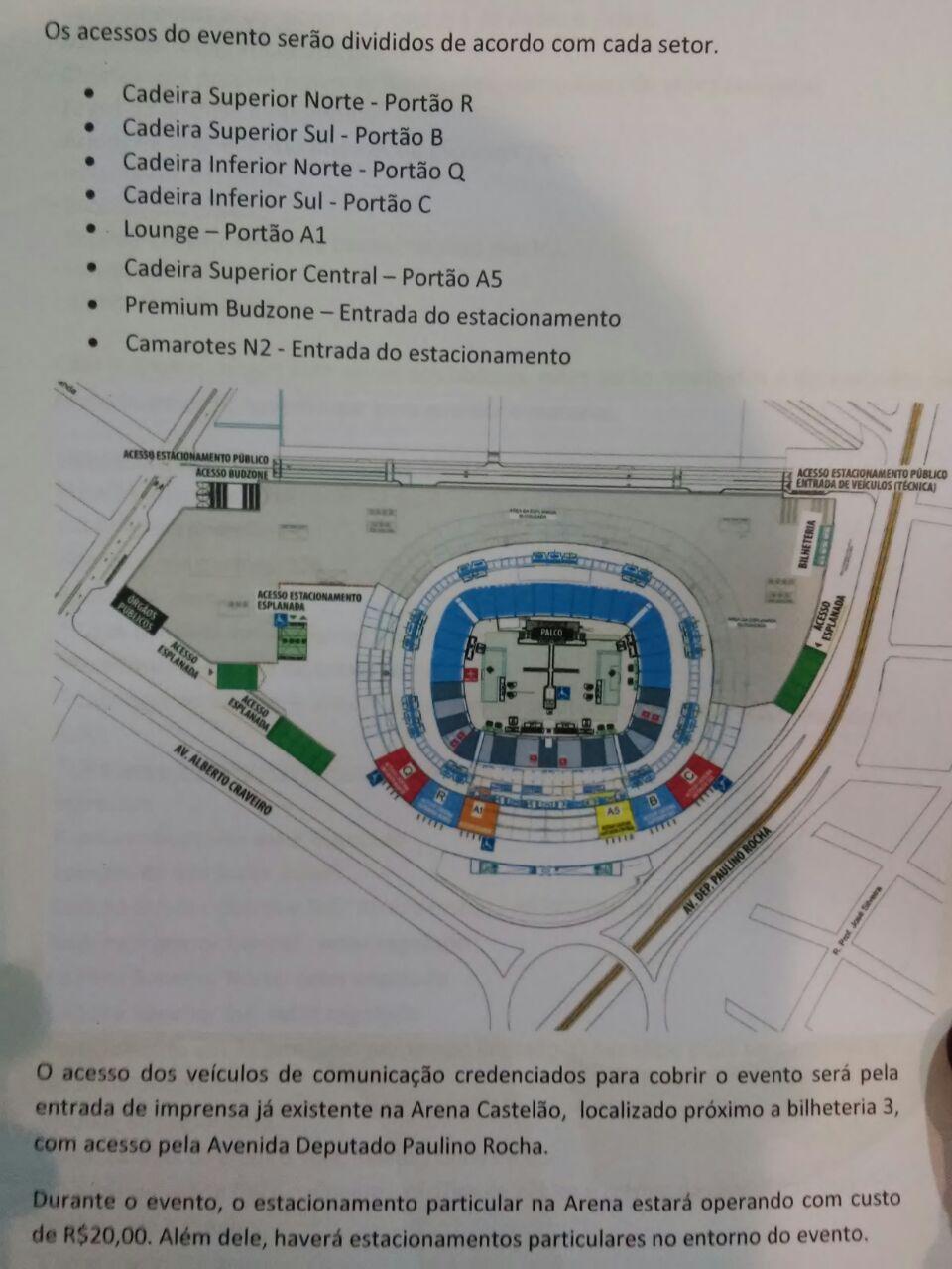 fortaleza 2016 port es de acesso estacionamento