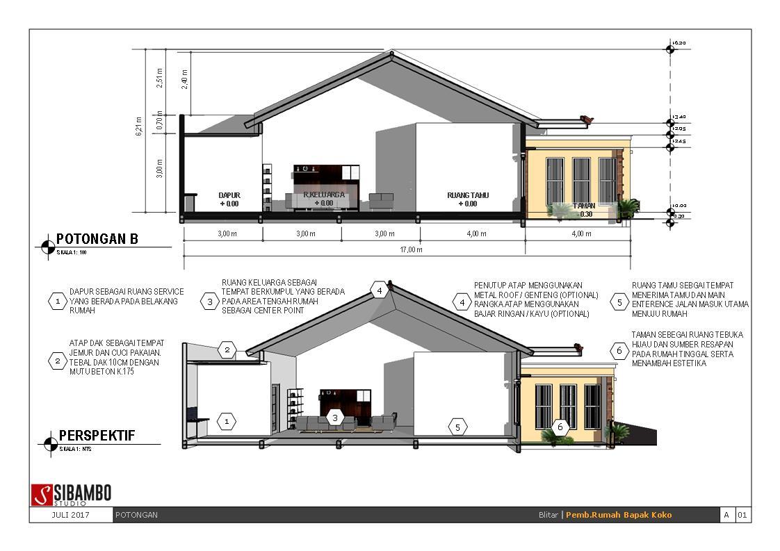 Desain Rumah Minimalis 10 X 10 desain rumah plus toko bergaya mediterania 10 x 17 m
