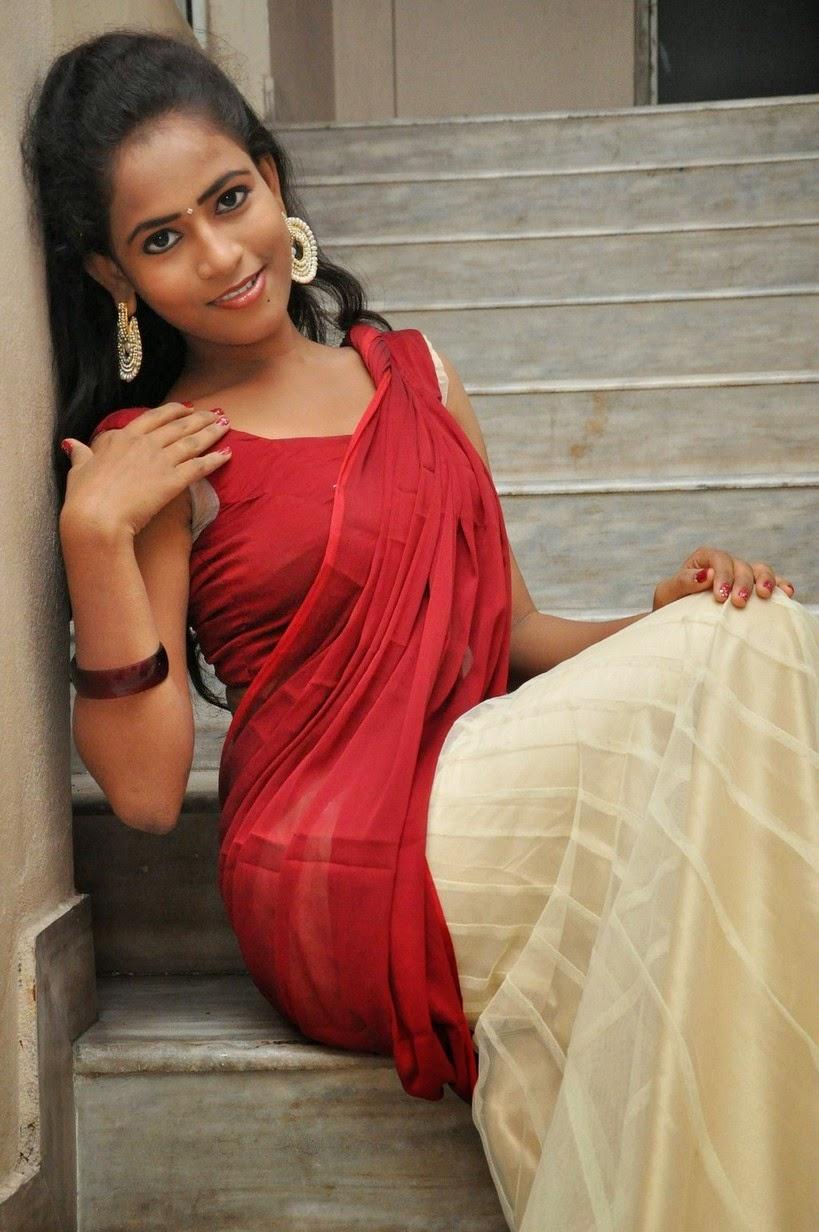 Actress Chaitra Saree Below Navel Show Photos