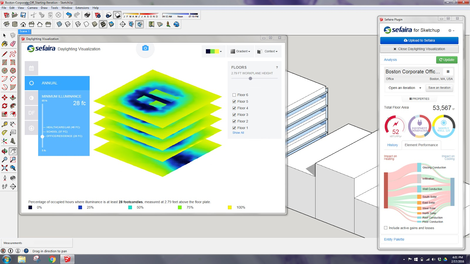Building performance modeling tools for any designer daniel sefaira architecture provides design performance analysis on the fly via the sketchup and revit plug in screen capture by daniel overbey pooptronica