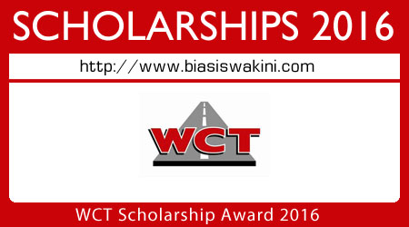 WCT Scholarship Award 2016