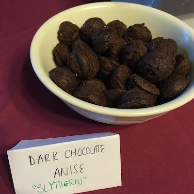 white bowl full of dark chocolate cookies