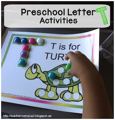 teachermomplus3 preschool letter t activities. Black Bedroom Furniture Sets. Home Design Ideas