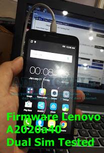 Firmware Lenovo A2020a40 Dual Sim Tested