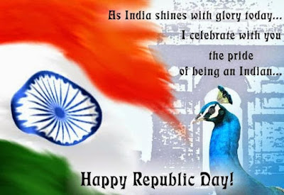 colorful republic day image with flag
