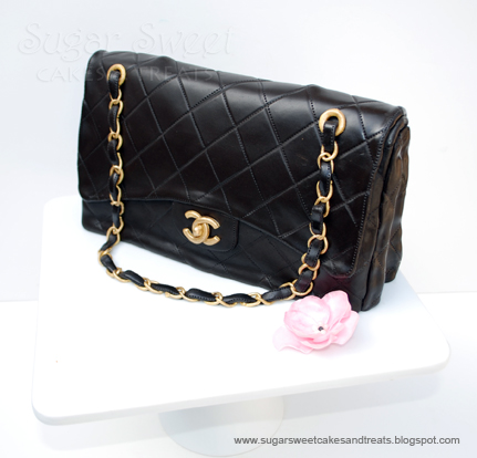 I made this cake for my mother-in-law s birthday. She loves Chanel and had  requested for me to replicate one of her purses a few years ago. 55520ce8c7550