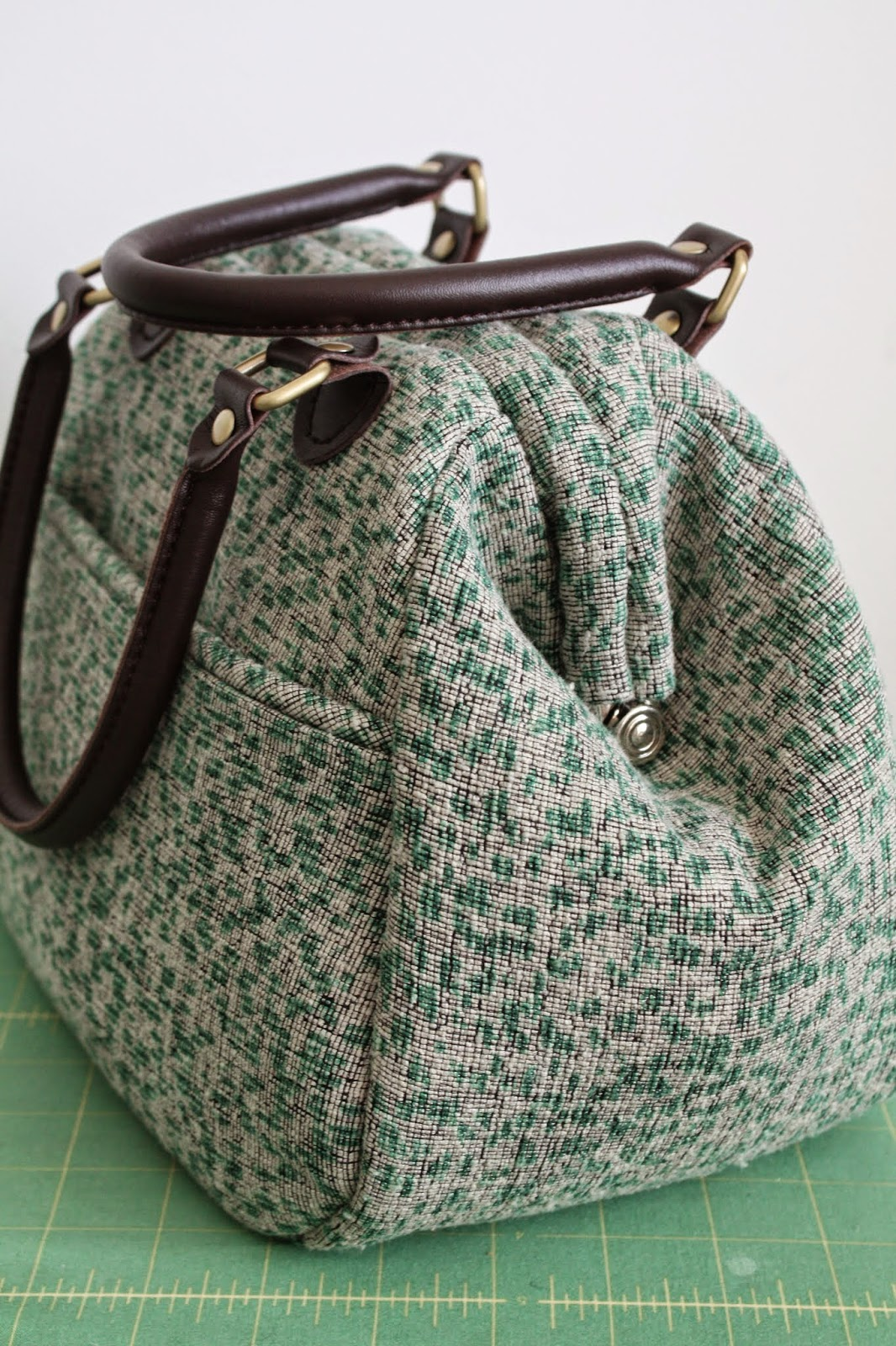 Nicole at Home: Companion Carpet Bag in silk brocade