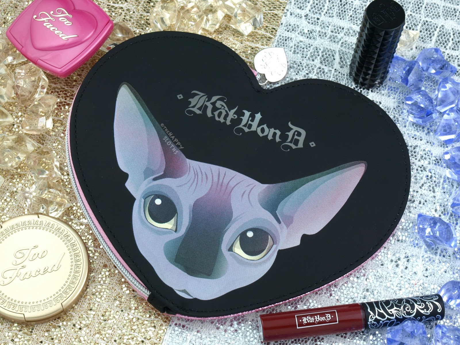 Too Faced x Kat Von D Cheek & Lip Makeup Bag Set: Review and ...