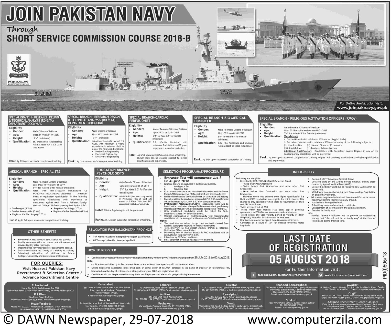 Short Service Commission Course 2018-B at Pakistan Navy