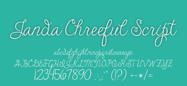 Kumpulan Font Undangan - Janda Cheerful Script Font