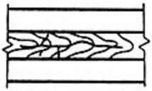 Трещина сварного соединения, имеющая ответвления в различных направлениях