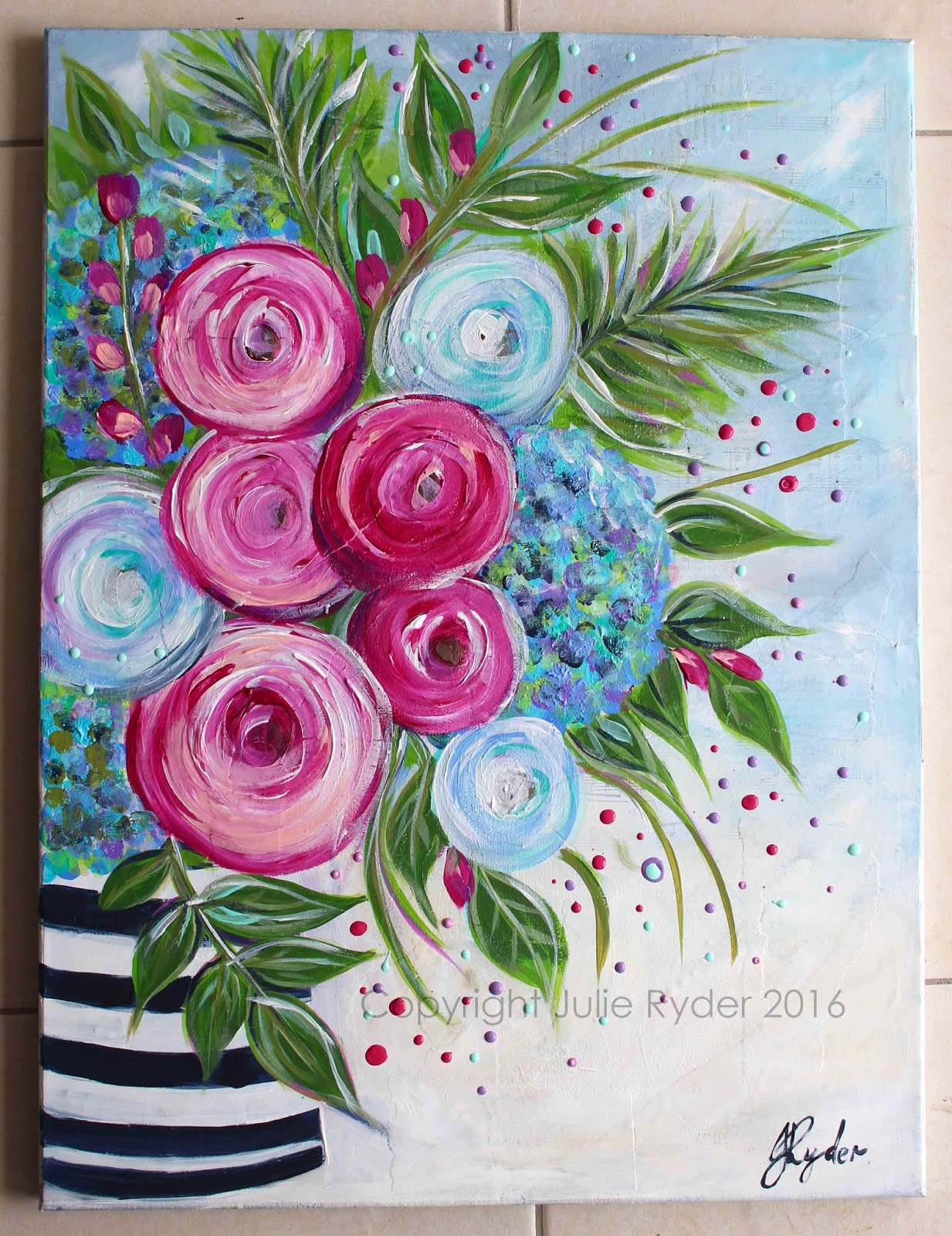 Made By MeJulie Ryder Flowers And Swirls