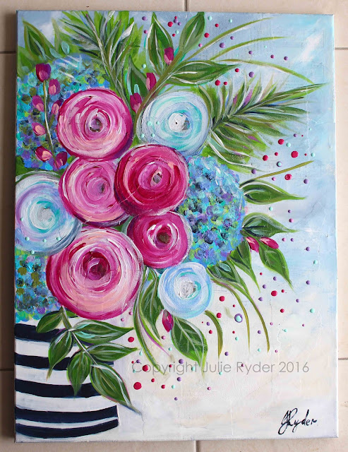 Made By Me Julie Ryder Flowers And Swirls