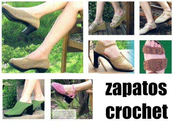 Zapatos de crochet clasicos con 11 tutoriales