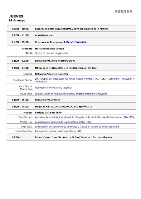 XXXI Simposio de la Sociedad Española de Historia de la Psicología (SEHP)/X Simposio de la Asociación de Motivación y Emoción (AME)