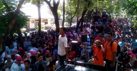 Unjuk Rasa di PN Padang, Forum Nagari Tigo Sandiang Tuntut Hak Atas Tanah Rakyat Dikembalikan