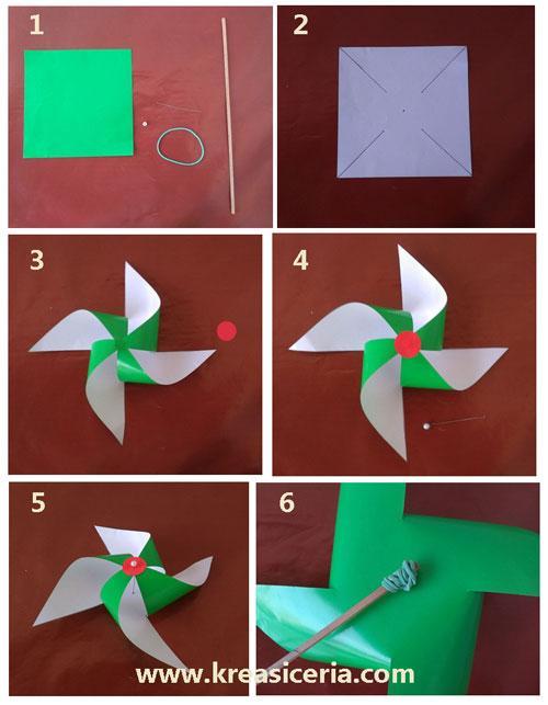 Cara Membuat Kincir Angin Dari Sedotan : membuat, kincir, angin, sedotan, Mudah, Membuat, Kincir, Angin, Kertas