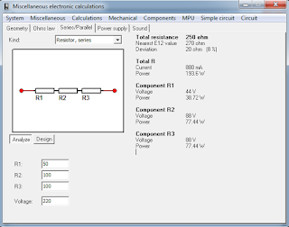 Screenshot 4 : MiscElectronic Calculations