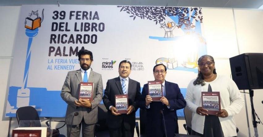 Fondo Editorial del Poder Judicial presentó libro sobre enfoque intercultural