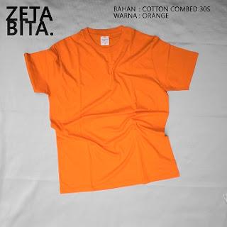 Kaos Polos Orange - Zetabita