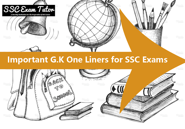 Important GK One Liners for SSC CGL(Geography)