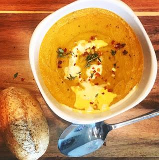 Spiced Red Lentil & Root Vegetable Soup