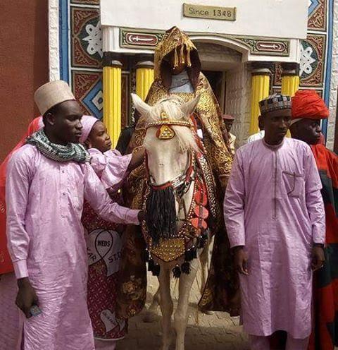 Princess Siddika Sanusi arrives matrimonial home on horseback (photos)