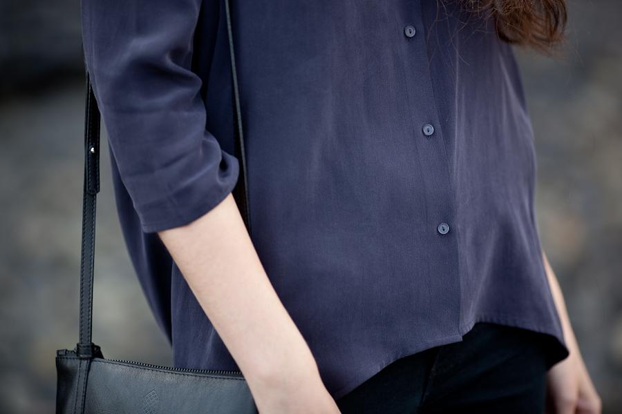 jedwabna koszula | cosstores | detal