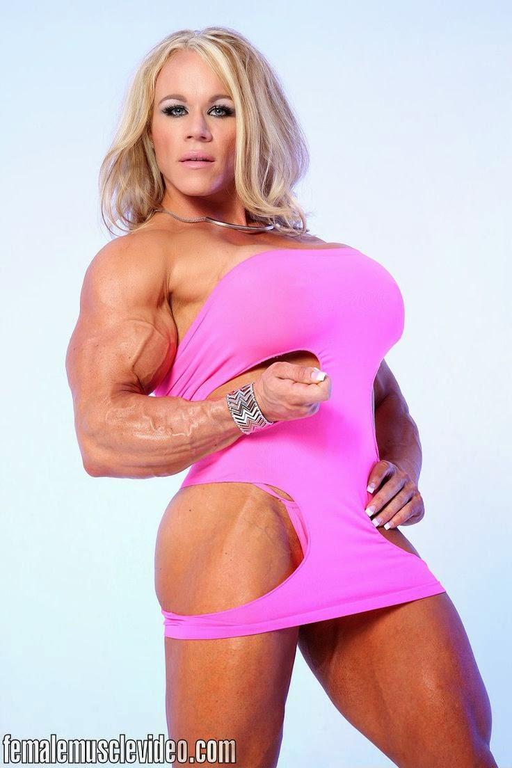 Huge female bodybuilder aleesha young