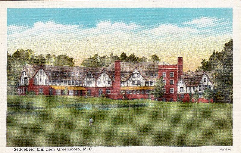 What's on ebay? Sedgefield Inn Greensboro NC vintage Postcard.