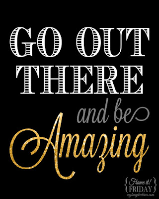 Be Amazing!, a free graduation printable