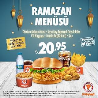 popeyse iftar menüsü popeyes ramazan menüsü popeyes menü fiyatları
