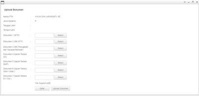 contoh halaman upload dokumen pengajuan NUPTK Baru